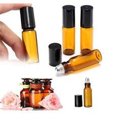 10pcs 3 Sizes Amber Roll On Glass Bottle Roller Ball For Perfume Oils Q0Q7