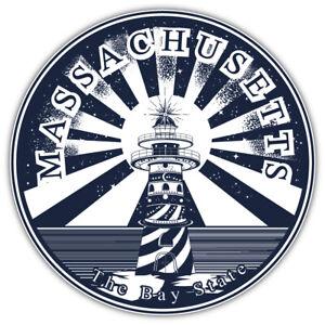 "Massachusetts USA State Vintage Emblem Car Bumper Sticker Decal ""SIZES"""