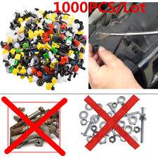 1000x Plastic Car Rivet Mixture Door Fender Bumper Dash Panel Fastener Clip Pins