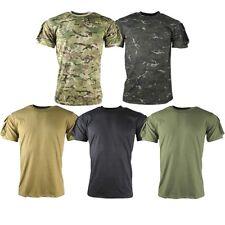 Camisetas de hombre de manga corta color principal verde 100% algodón