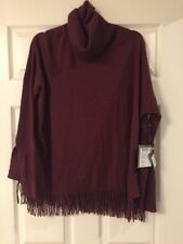 REPEAT WOOL CASHMERE PULLOVER WITH FRINGES $298 38/SMALL