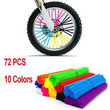 Motorcycle Dirt Bike Wheel Rim Spoke Skins Covers Wrap Tubes Decor Protector