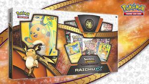 Pokemon SHINING LEGENDS Special Collection Box Raichu GX Brand New & Sealed