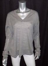 LANE BRYANT NEW Gray V-Neck Long Sleeve Merino Wool Blend Sweater sz 14/16
