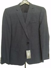 NEW $1095 HUGO BOSS Huge5/Genius3 Navy Blue Textured Grid Check Suit 42R (W38)
