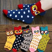 Women Cute Owl Printed Cotton Casual Socks Animal Ankle Sock Ear Hosiery Fashion