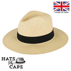 Straw Fedora Wide Brim Sun Hat Holiday Panama Paper Beach Hat