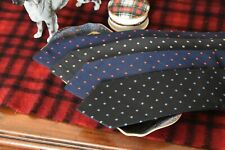 Mens Drake's Floral Dot Petal Pattern Ties Hand Made in England Multiple Colours