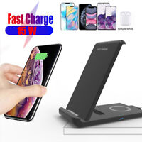Qi Wireless Fast Charger Charging Stand Dock For iPhone 12 Mini 12 Pro Max 11 XR