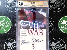 Civil War #3 2006 Marvel CGC 9.8 Signed by Mcniven & Vines 1st Ragnarok as Thor