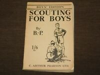 VINTAGE WWII BSA BOY SCOUTS OF AMERICA 1944 BOYS EDITION SCOUTING BOOK