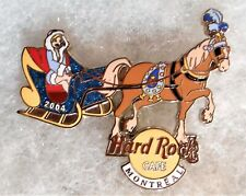 HARD ROCK CAFE MONTREAL SEXY GIRL RIDING IN SLEIGH WITH HORSE PIN # 27230