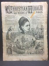 Sept. 4 1884 CHRISTIAN HERALD w/ TEMPERANCE PHILANTHROPIST Mrs Reaney  16 pages