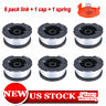 "For BLACK+DECKER AF-100-3ZP 30ft 065"" String Trimmer Line Replacement Spool 6PCS"