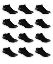 MENS 12 PAIR SHOE Sz 6-12 DUAL DEFENSE WICKING NO SHOW BLACK GRAY CUSHION SOCKS