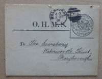 1891 VICTORIA OHMS CARD MINISTER OF WATER SUPPLY