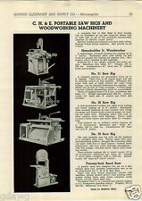 1943 PAPER AD CH&E Tandem Rollers Black Top Asphalt Lawn Portable Saw Rigs Wood