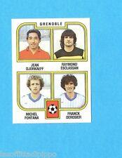 FRANCIA-FOOTBALL 83-PANINI-Figurina n.451- DJORKAEFF+ESCLASSAN+...-GRENOBLE-Rec