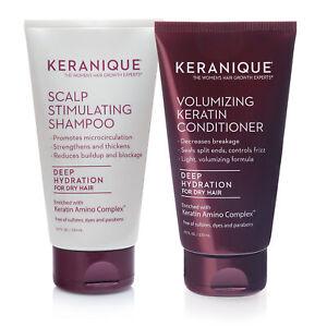 Keranique Deep Hydration Hair Growth Shampoo and Conditioner Set, 4.5oz each