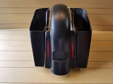 """6""""EXTENDED SADDLEBAG NO CUT OUT/REAR LED FENDER FOR ALL HD TOURING  2014-UP"""
