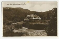 Vintage Unposted Lord Bantry's Lodge Glengarriff Co. Cork Real Photo Postcard