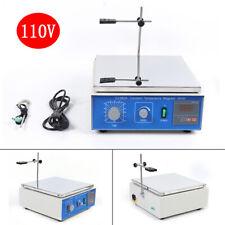 10l Magnetic Stirrer With Heating Plate Hotplate Digital Mixer Stir Bar Lab 110v