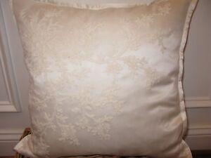 Ralph Lauren SAINT HONORE Shadow Cream Silk Throw Pillow $185
