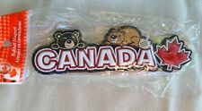 Canada Rubber Refrigerator/Auto Magnet Black Bear/Beaver New