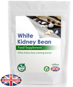High Strength White Kidney Bean 5000mg Extract (30/60/90/120/180 Tablets) UK (V)