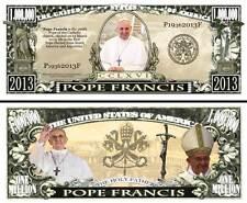 Le PAPE FRANCOIS BILLET DOLLAR US ! Collection RELIGION Catholique Vatican Jesus