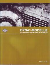 HARLEY-DAVIDSON Werkstatthandbuch 2013 Dyna Super Glide Custom Buch DEUTSCH Neu