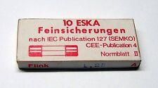 8 x ESKA Feinsicherung 5x20mm 1,25A (flink)