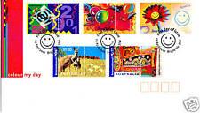 2001 Colour My Day Fdc - Bright Vic 3741 Pmk