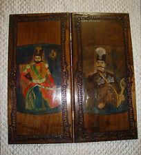 Rare  Qajar Exotic Persian Walnut Large Backgammon- One of the kind