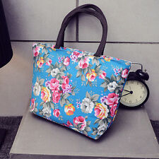 Fashion Floral Women Handbag Canvas Casual Tote Bag  Shopping Bag Lunch RA