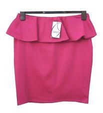 Oasis Mini Falda Rosa Tamaño 12 con elástico en la cintura & Stretch