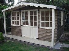 Summer House Log Cabin 12ft x 12ft Including 2ft veranda Office Bar Timber