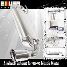 "SS Alexback Exhaust System for 90-97 Mazda Miata NA6CE 3.5"" O.D.Tip"