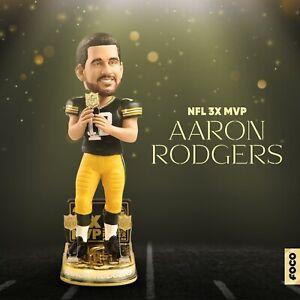 AARON RODGERS Green Bay Packers 3x MVP Award EXCLUSIVE Bobblehead #/112 NIB!