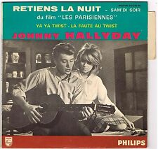 JOHNNY HALLYDAY Retiens la nuit Philips 432.739 BE French EP with side tab intac