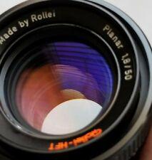 Rollei HFT Zeiss Planar 50mm f/1.8 Lens with front Cap QBM Mount, mint condition