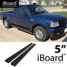 Running Board Side Step 5in Black Fit Ford Ranger/Mazda B Super Cab 2Dr 98-11