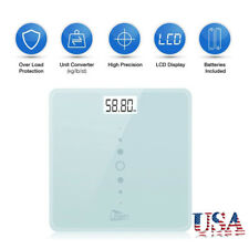 Electronic LCD Digital Body Weight Bathroom Scale w/Battery Tempered Glass 440LB