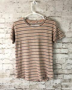 Madewell Womens XS Cordoba Stripe Short Sleeve T Tee Shirt J0635 Crewneck Cotton