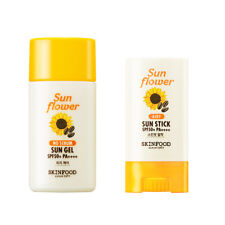 [SKINFOOD] Sun Flower No Sebum Sun gel 50ml / Airy Sun Stick 20g - SPF50+ PA++++