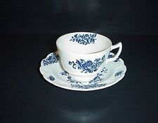 Booths Peony Cup & Saucer Blue Flowers Butterflies A8021 Antique C. 1912