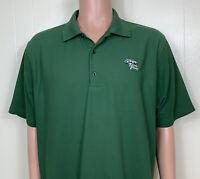 Greg Norman PlayDry Mens XL TORREY PINES Polo Shirt Golf 100% Polyester Green