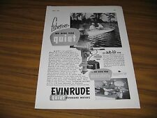 1953 Print Ad Evinrude Super Fastwin 15 HP Outboard Motors Milwaukee,WI