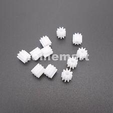 10PCS Plastic Spur Gear 0.5 Modulus T=9 Aperture: 2mm Model Accessories 0.5M 9T