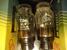 POPE KL4 NEW OLD STOCK HANGING FILAMENTS NOS PAIR OF BOXED VINTAGE TUBES VALVES